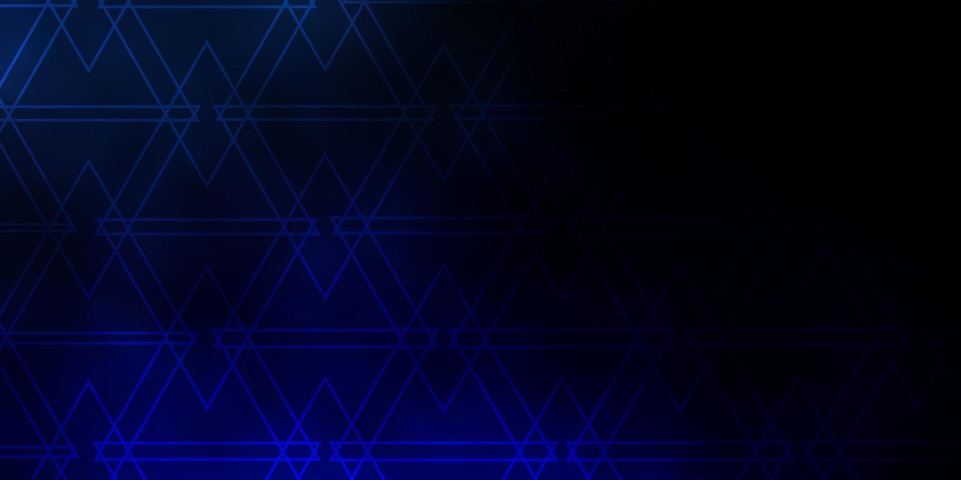 dunkelblaues Layout mit Linien, Dreiecken. vektor