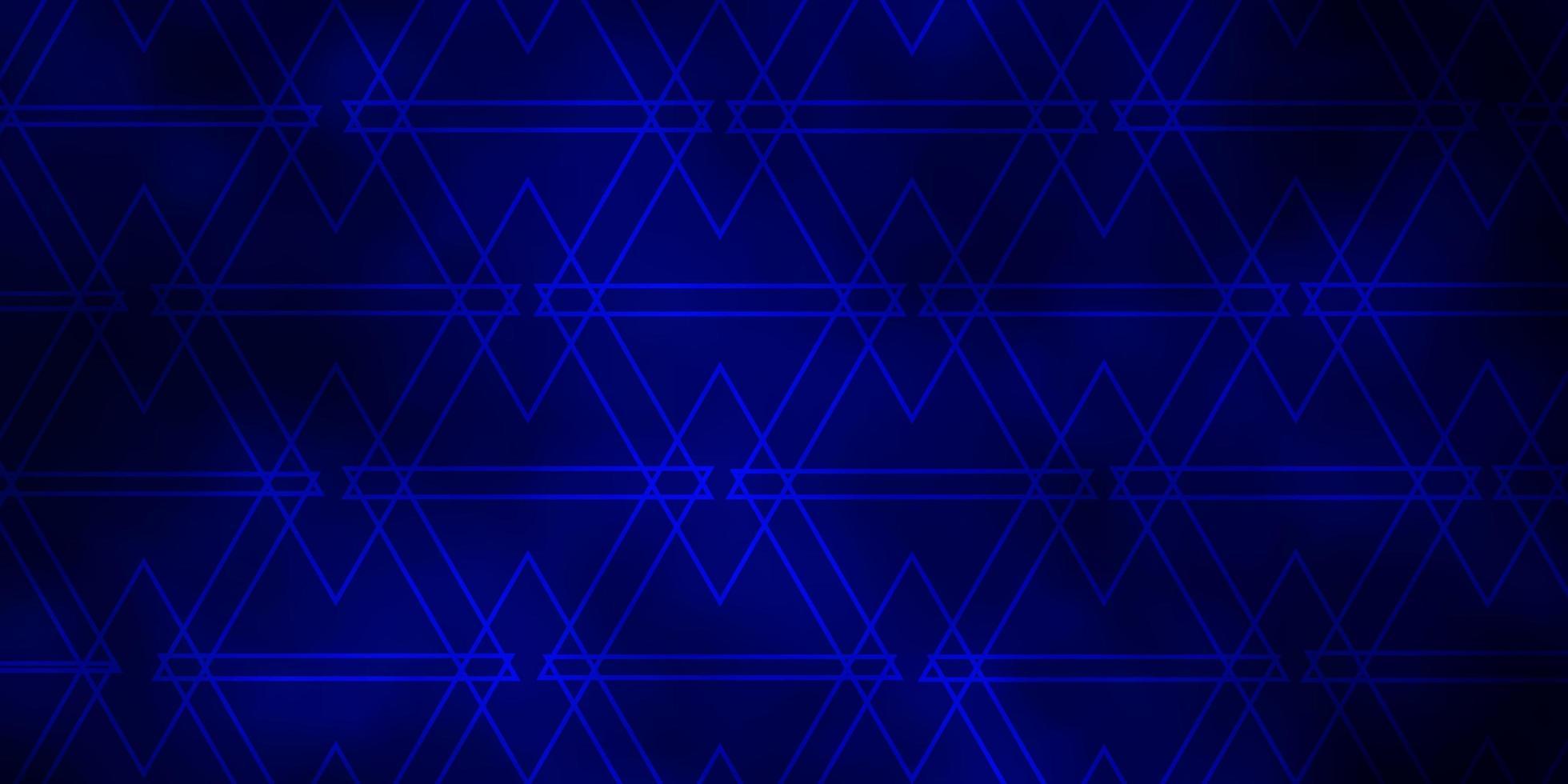 dunkelblauer Hintergrund mit Linien, Dreiecken. vektor