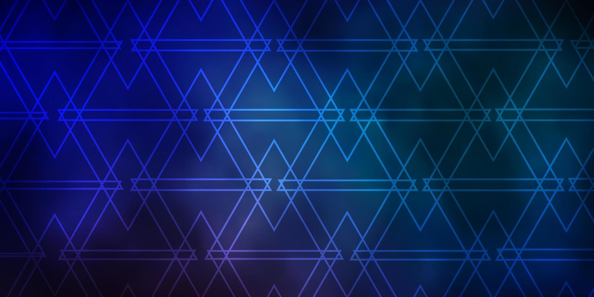 blaues Muster mit polygonalem Stil. vektor