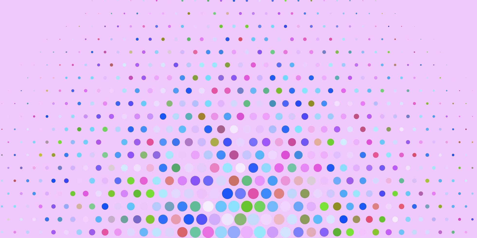 mehrfarbige Kreise auf lila Hintergrund. vektor