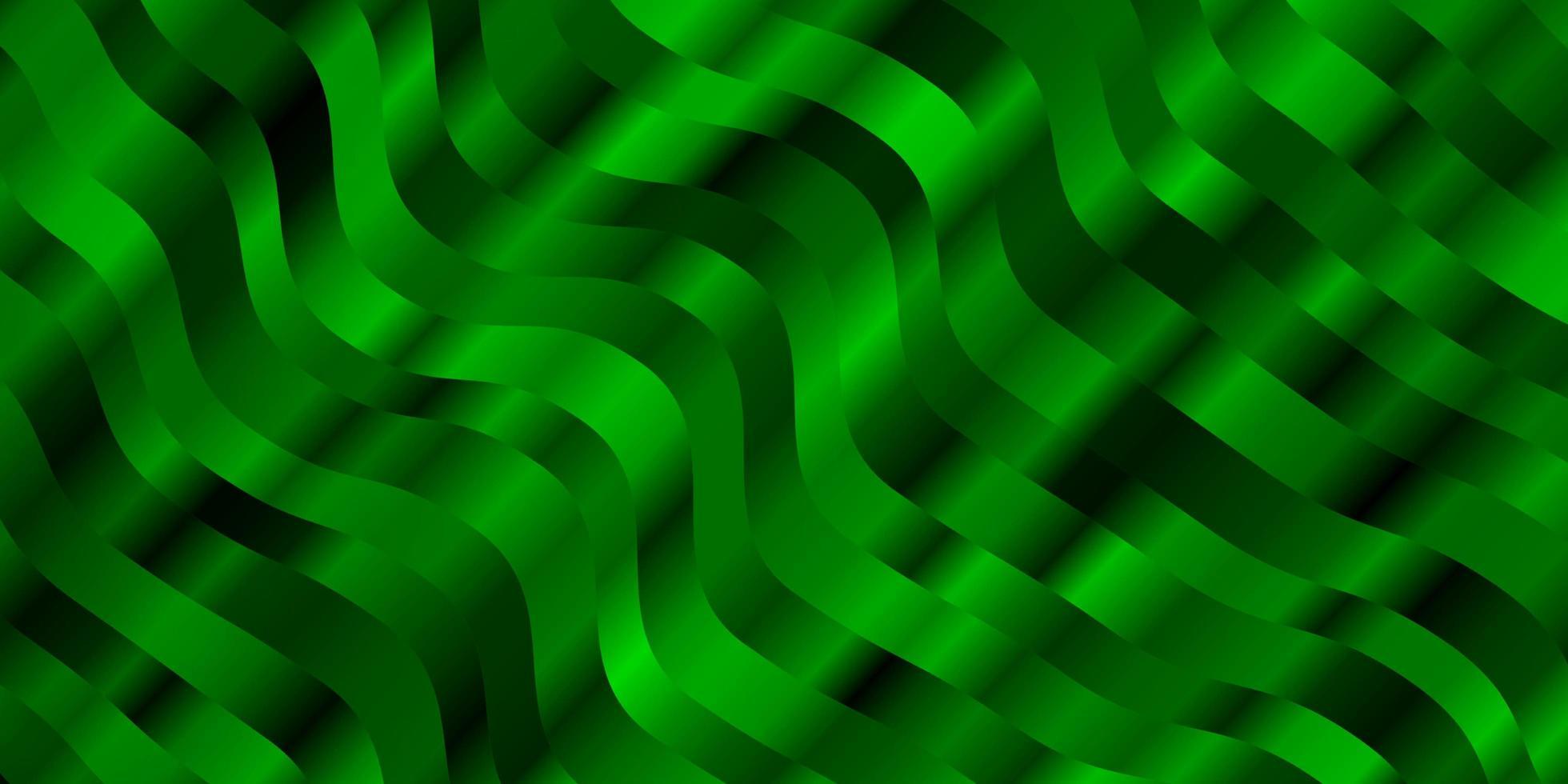 grünes Muster mit Kurven. vektor