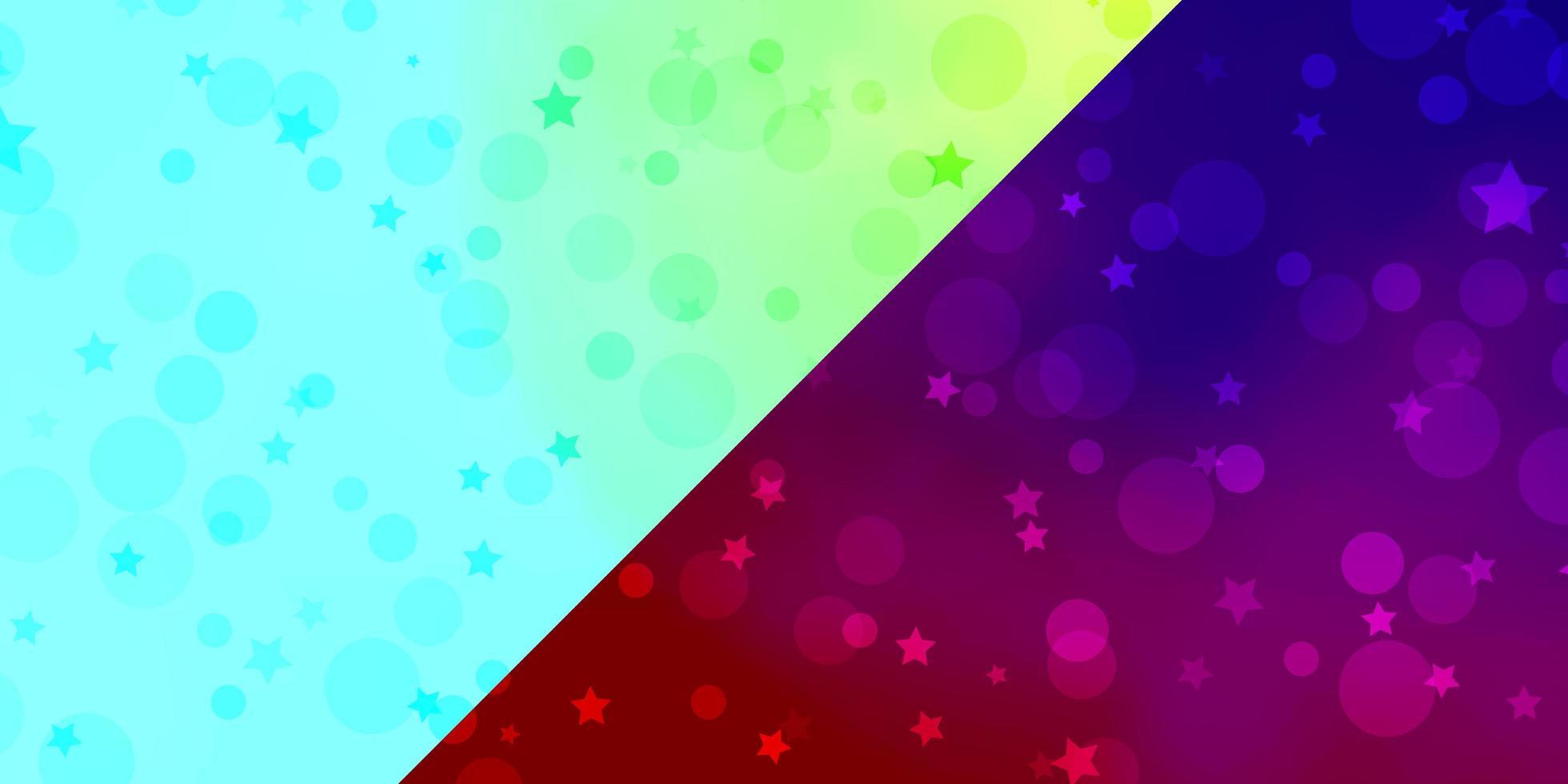 Textur mit Kreisen und Sternen. vektor
