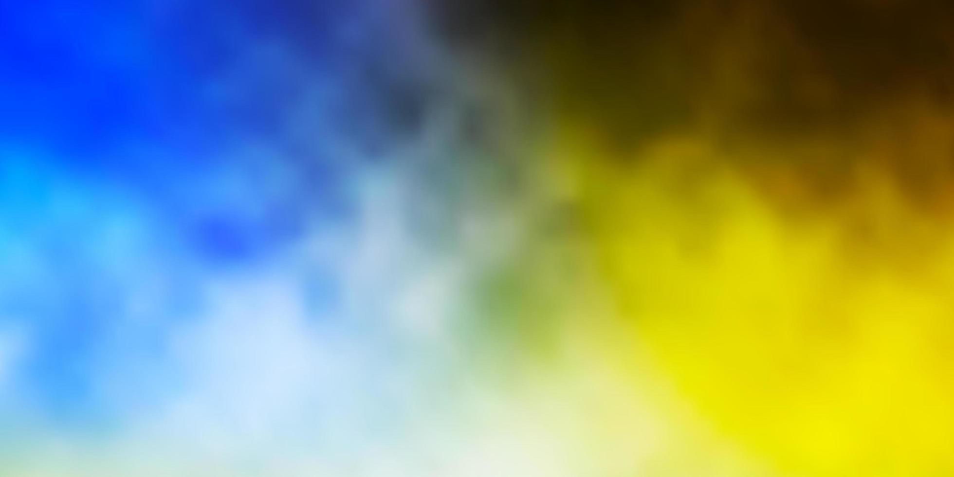 blaue und gelbe Textur mit bewölktem Himmel. vektor
