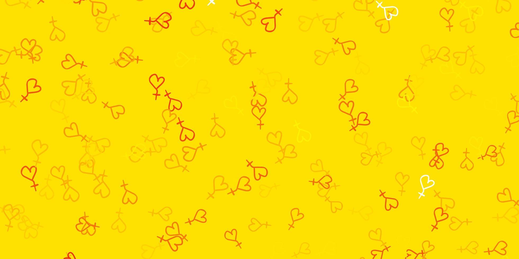 gelbes Muster mit feministischen Elementen. vektor