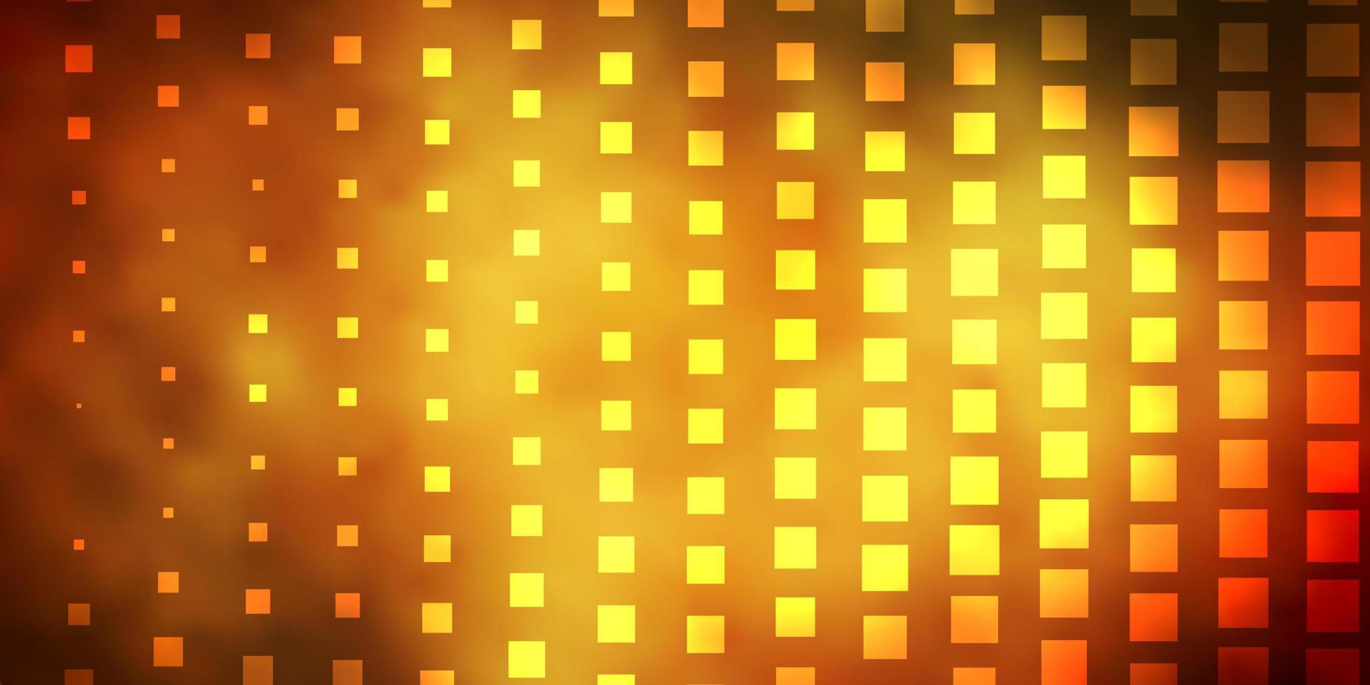 gelbes Layout mit Quadraten. vektor