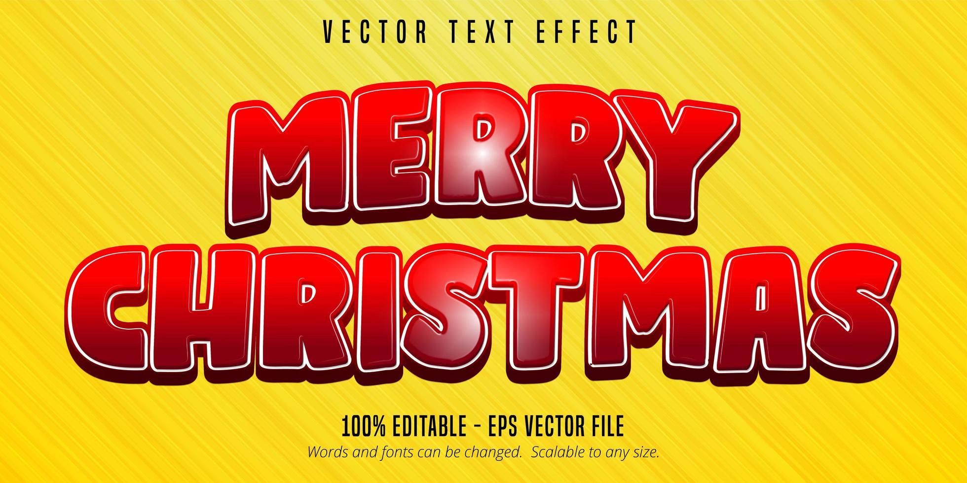 texteffekt för god jul vektor