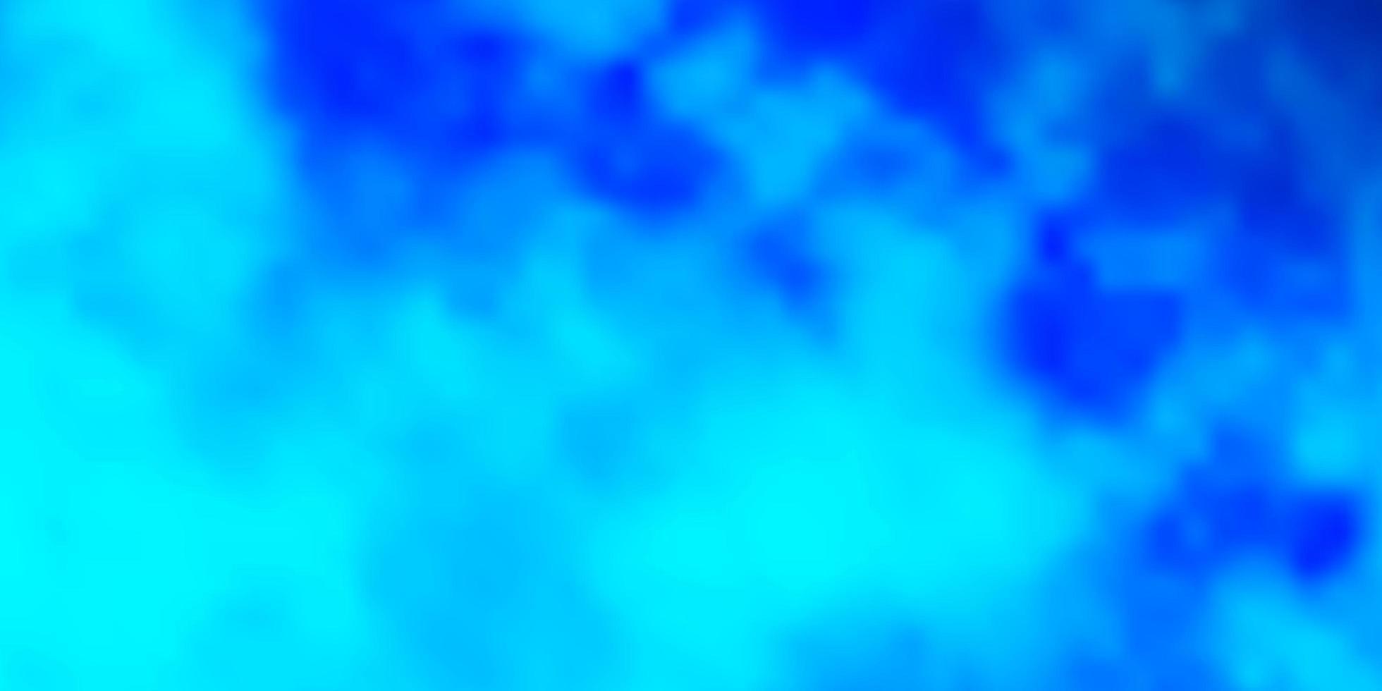 blå layout med molnlandskap. vektor