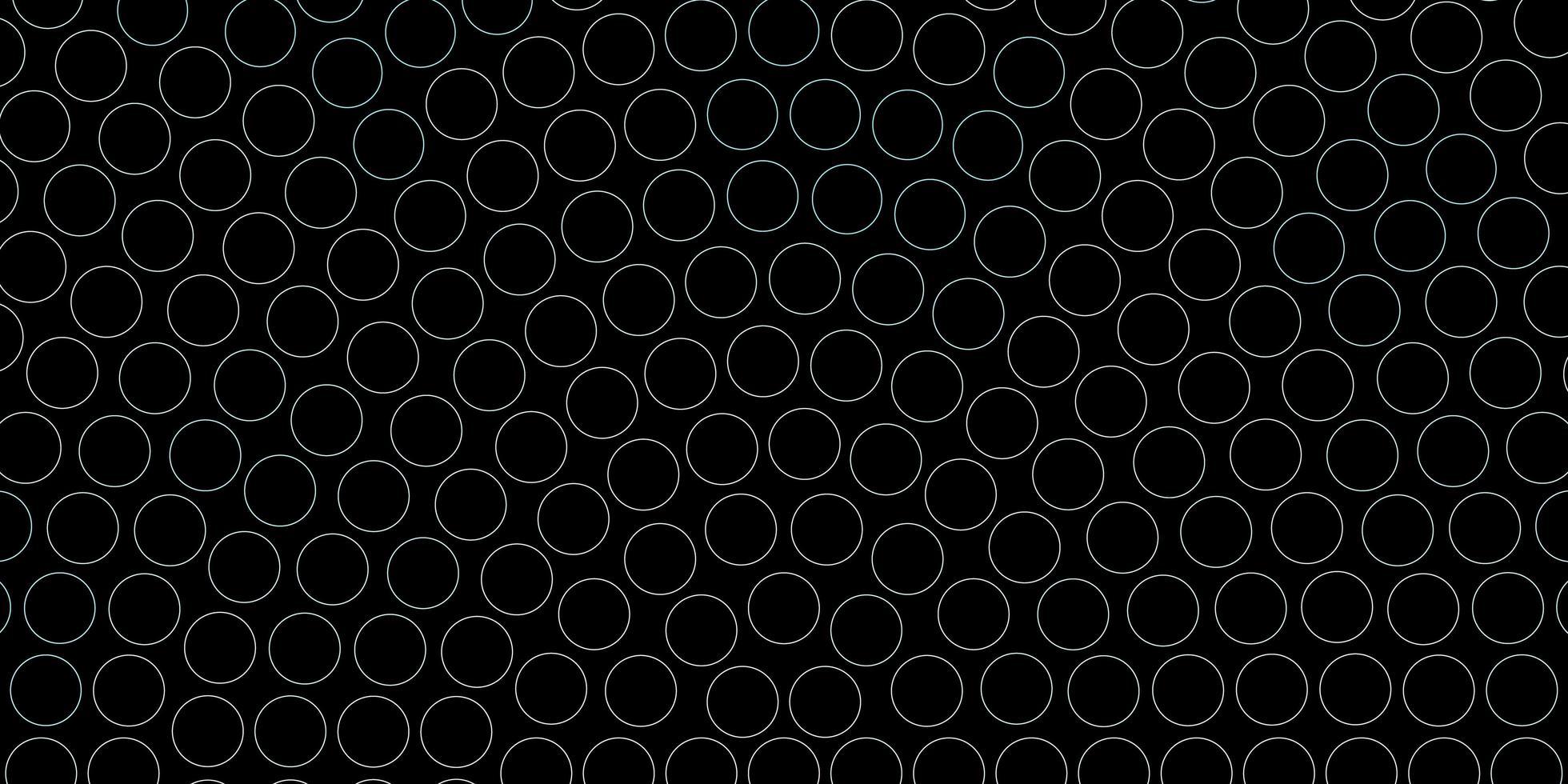blå konturerade cirklar mönster. vektor