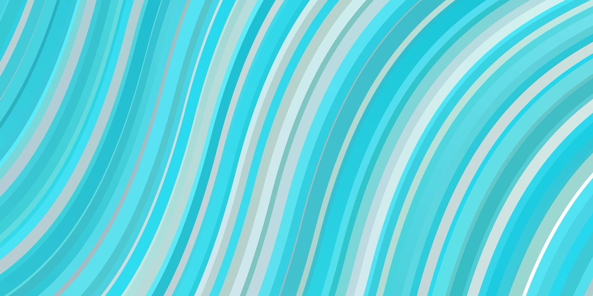 hellblaue und grüne Schablone mit geschwungenen Linien. vektor