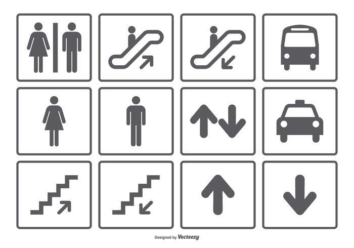 Öffentliches Symbol Icon Collection vektor