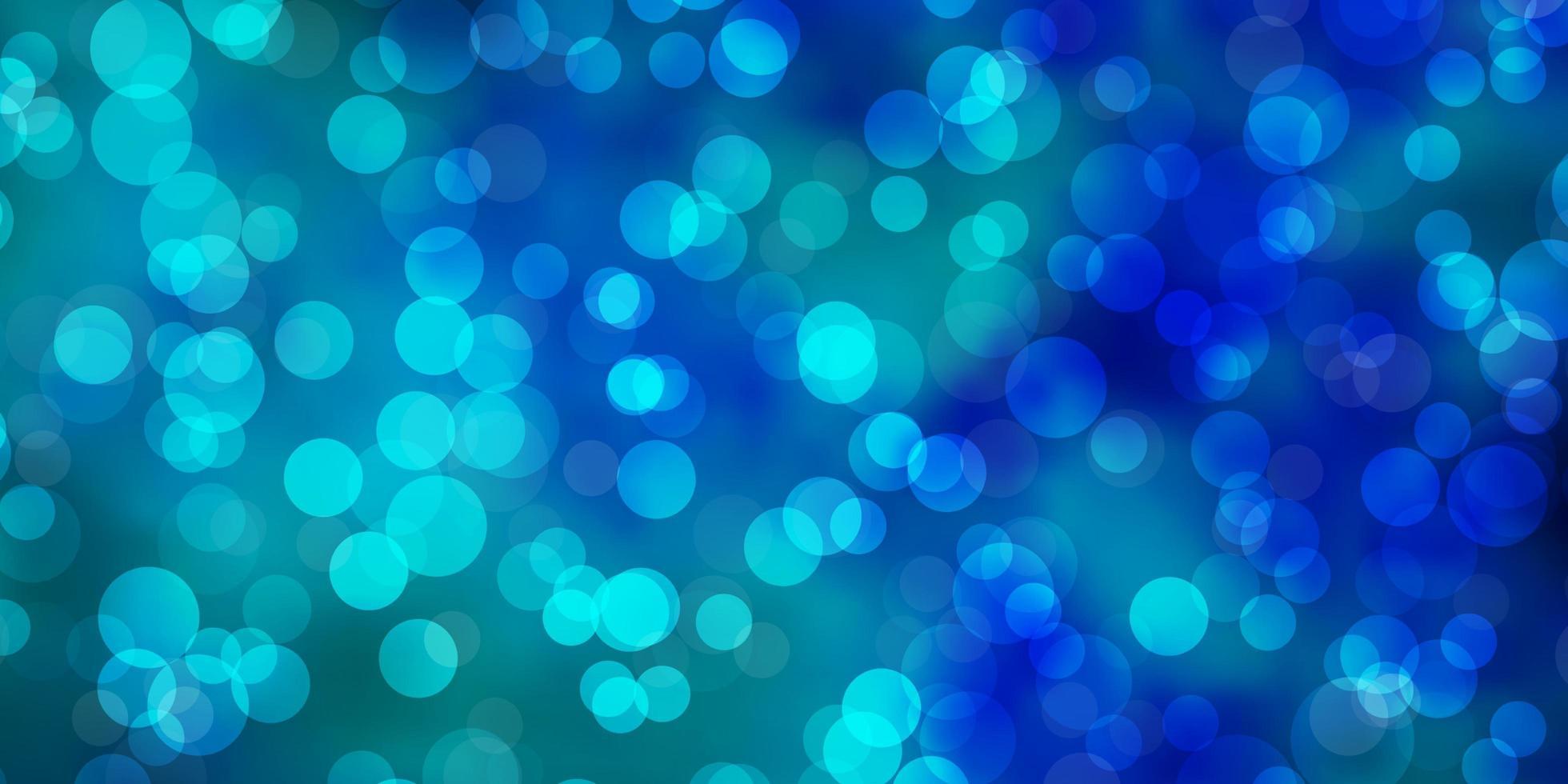 blå mall med cirklar. vektor