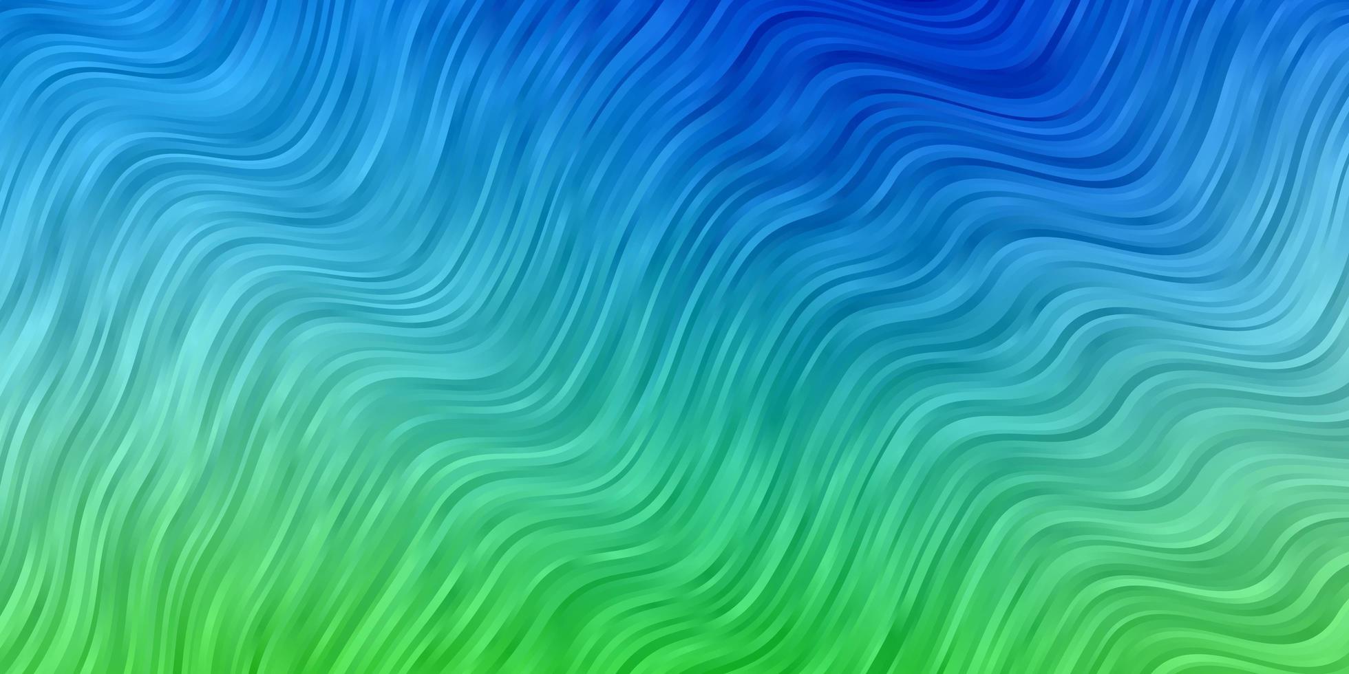 blått och grönt mönster med böjda linjer. vektor