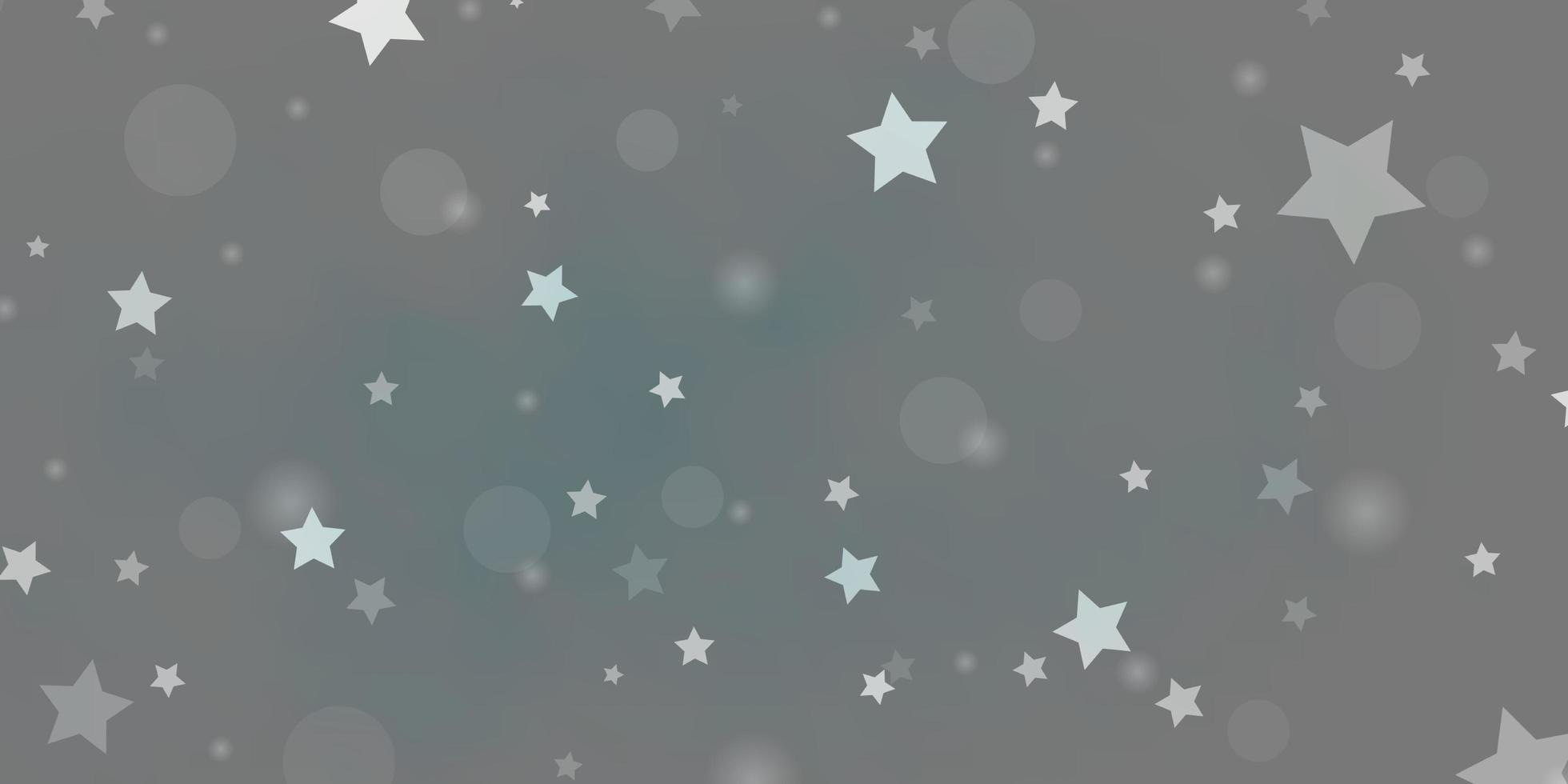 grå och blå bakgrund med cirklar, stjärnor. vektor