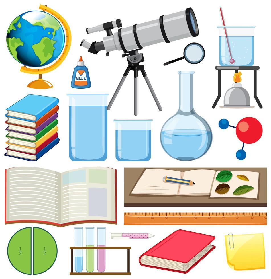 uppsättning skolobjekt vektor
