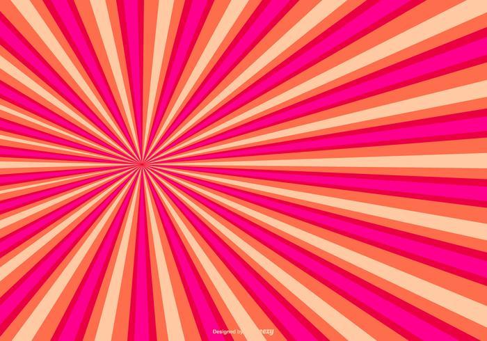 Bunte Sunburst Hintergrund vektor