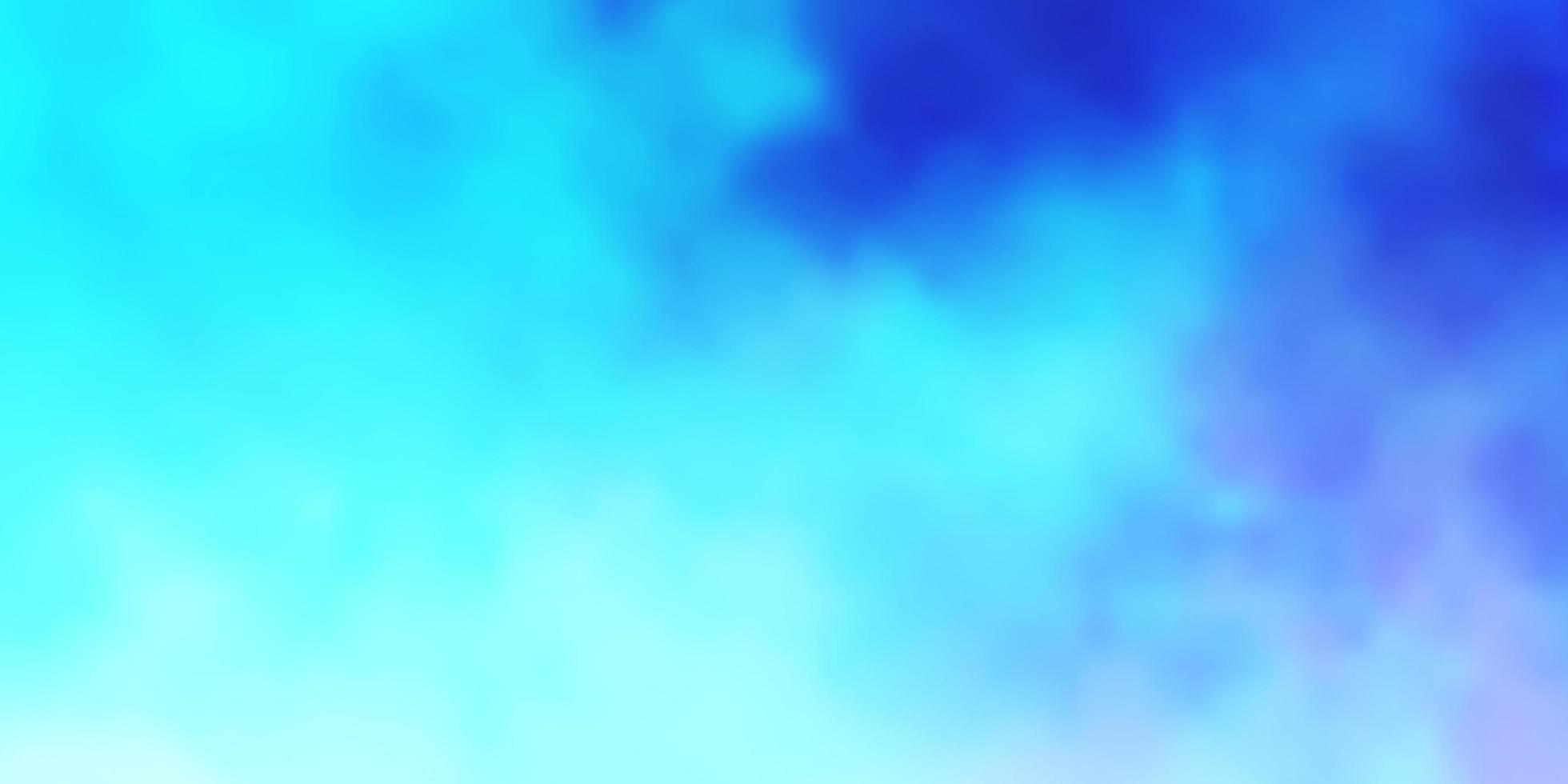 ljusblått mönster med moln. vektor