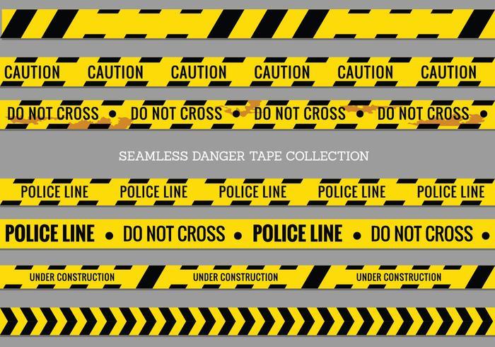 Fara Tapes, Police Line och inte korsar Seamless Vector