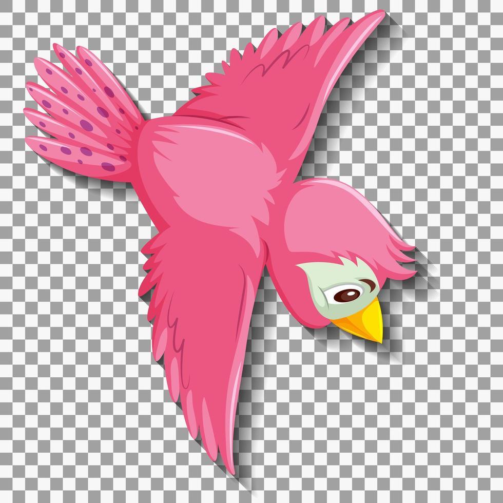 niedliche rosa Vogel-Zeichentrickfigur vektor