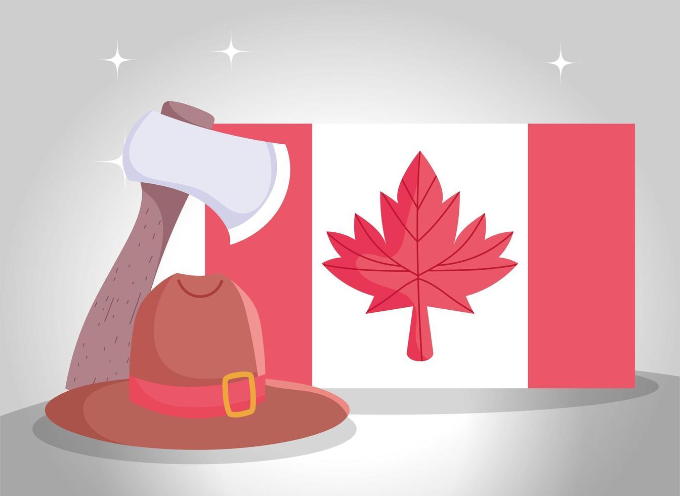 Kanadische Ikonen für Kanada-Tagesfeier vektor