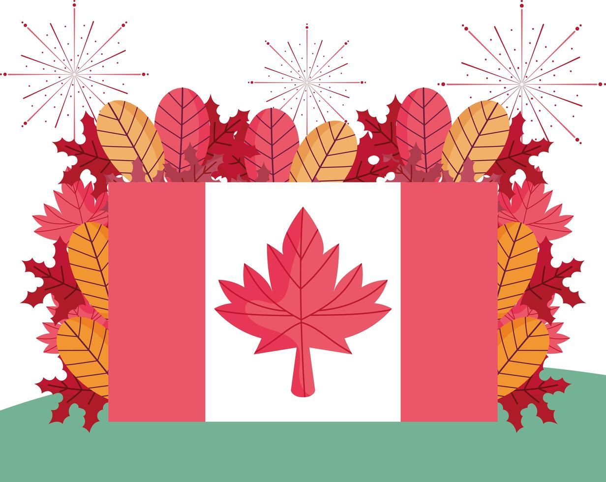 Happy Canada Day Feier Banner vektor