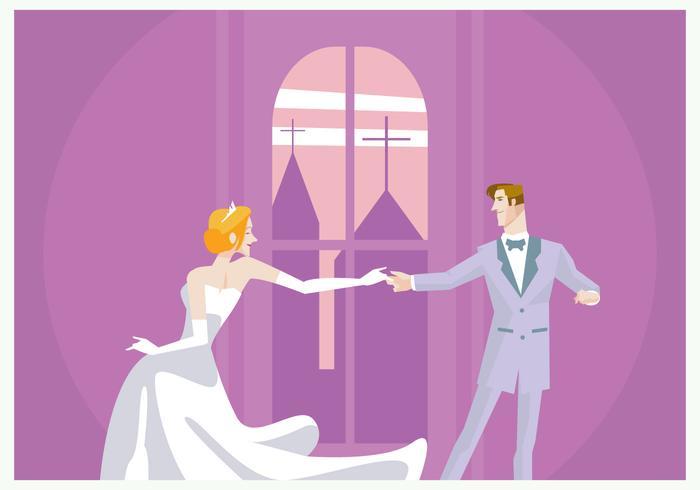 Hochzeit Paar-Tanzen Vektor