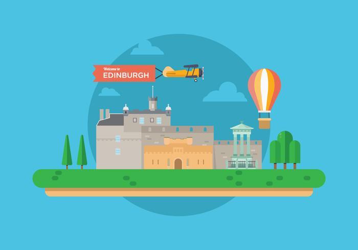 Willkommen in Edinburgh Illustration vektor