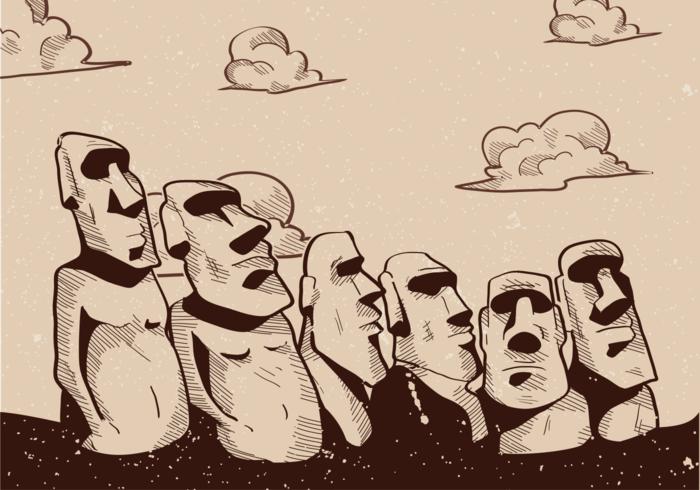 Easter Island Vector