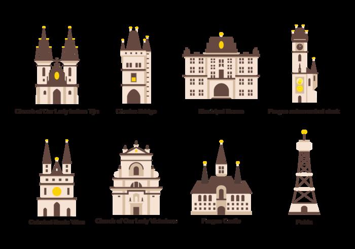 Prag Icons Vector