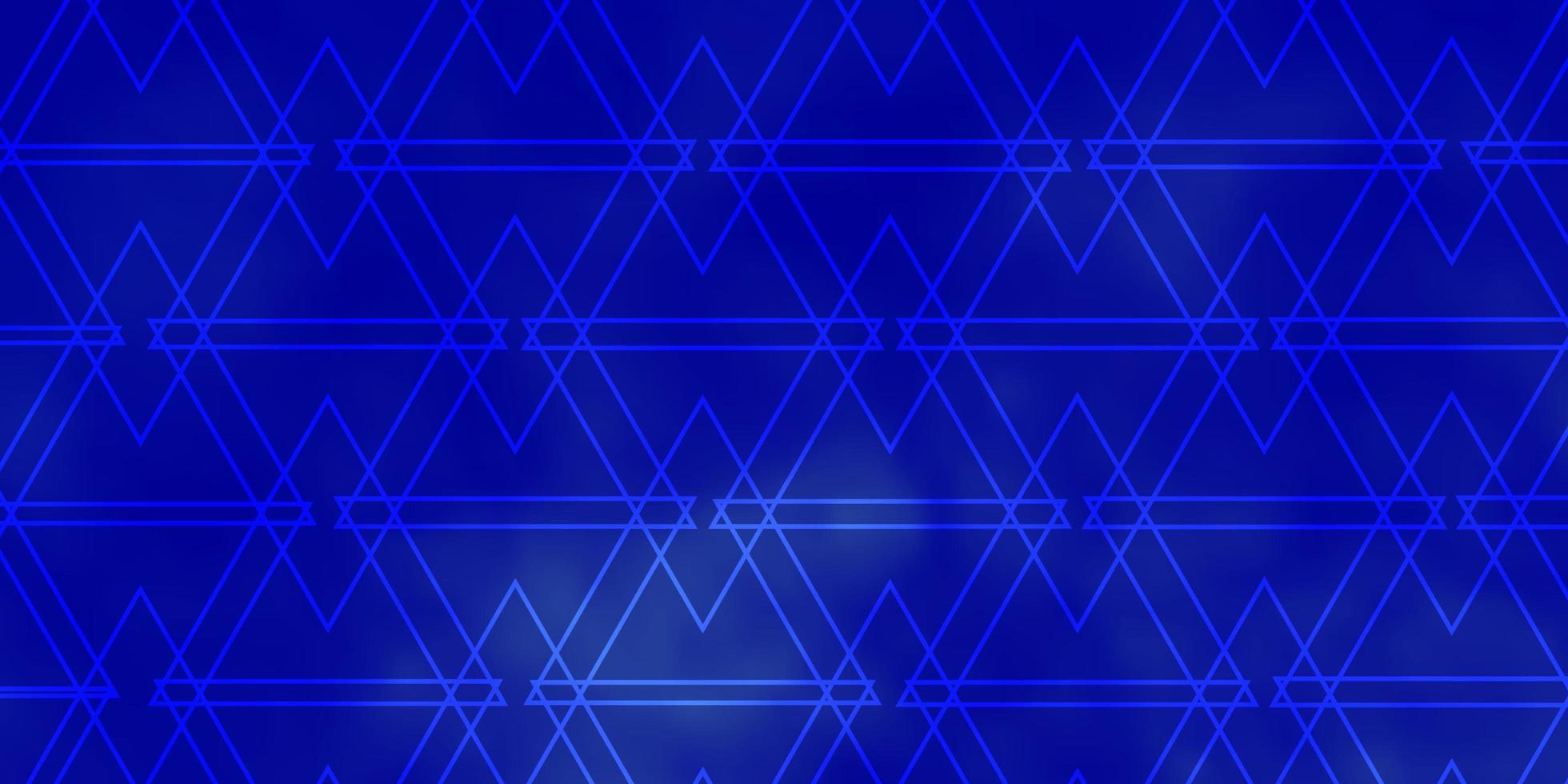 blå konsistens med linjer, trianglar. vektor