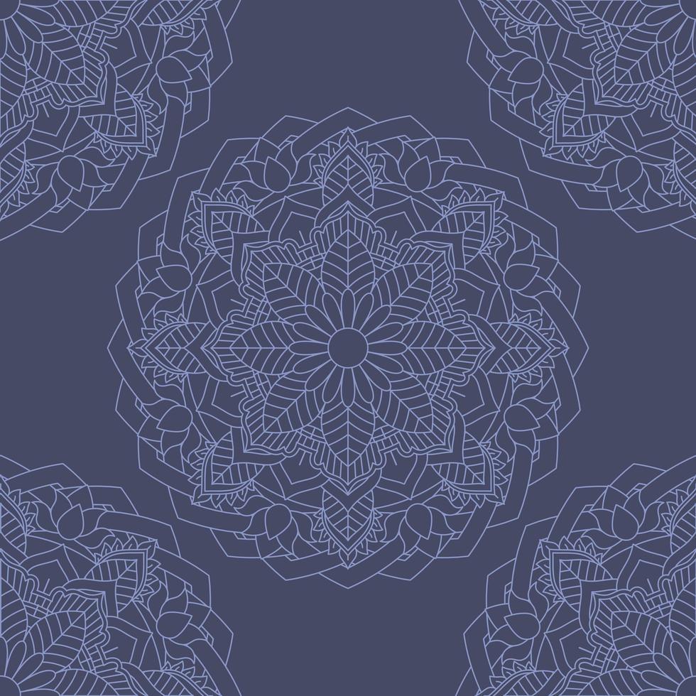dekorativer nahtloser Fliesenmusterhintergrund vektor