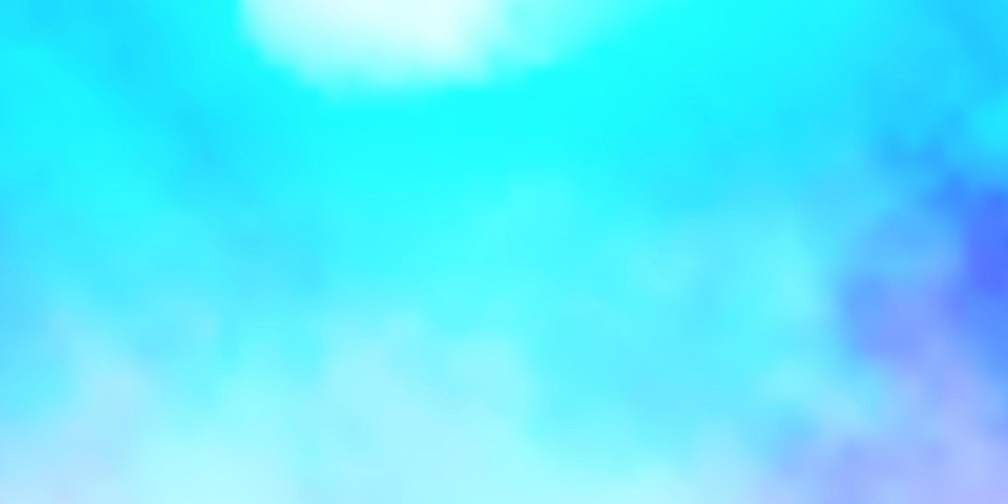 ljusblå mall med himmel, moln. vektor