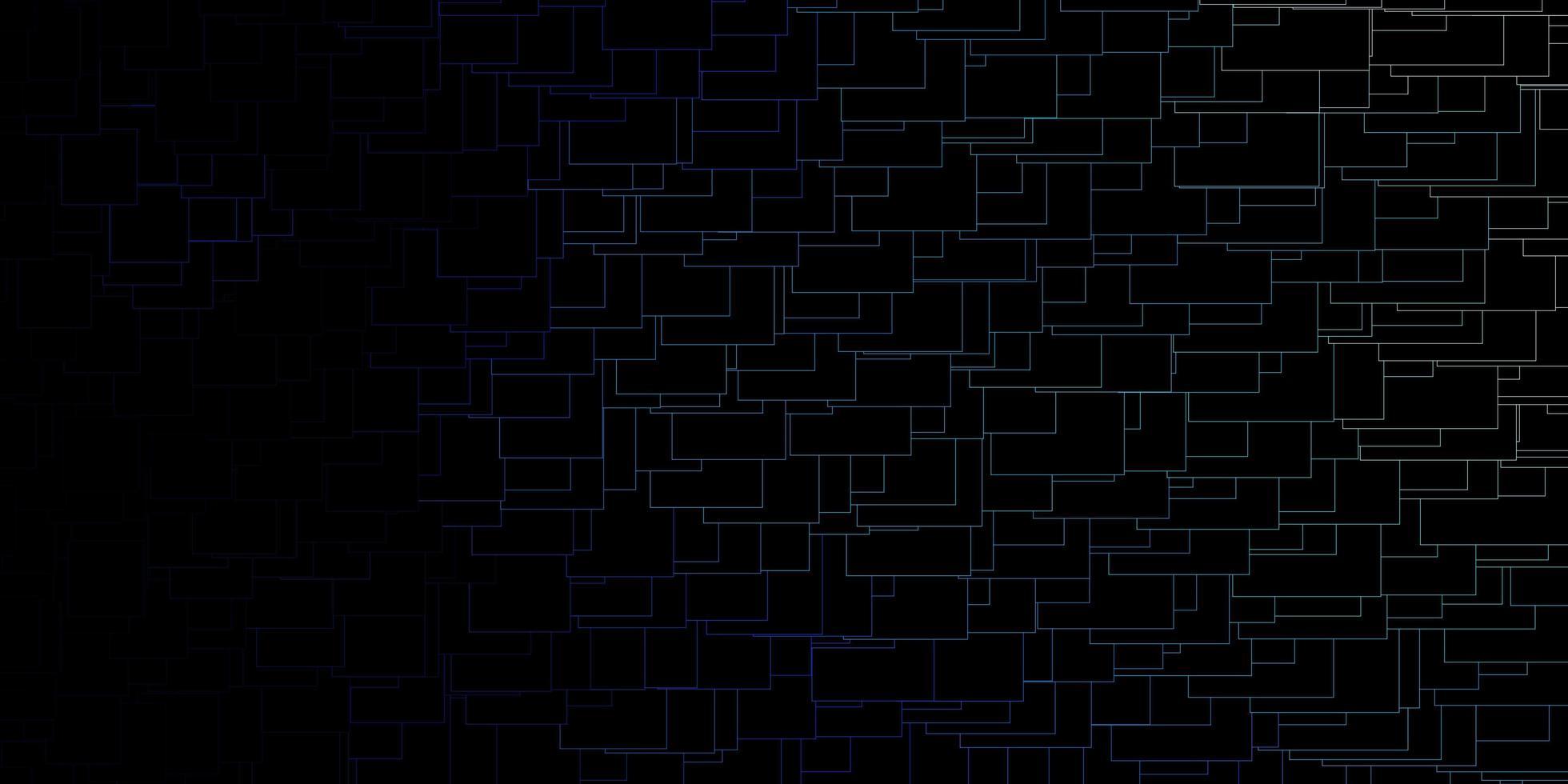 dunkles Layout mit blau umrandeten Rechtecken. vektor