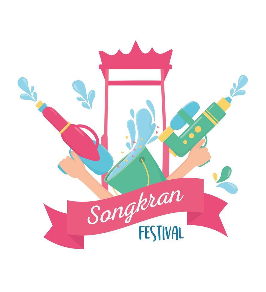 Songkran Festival Feier vektor