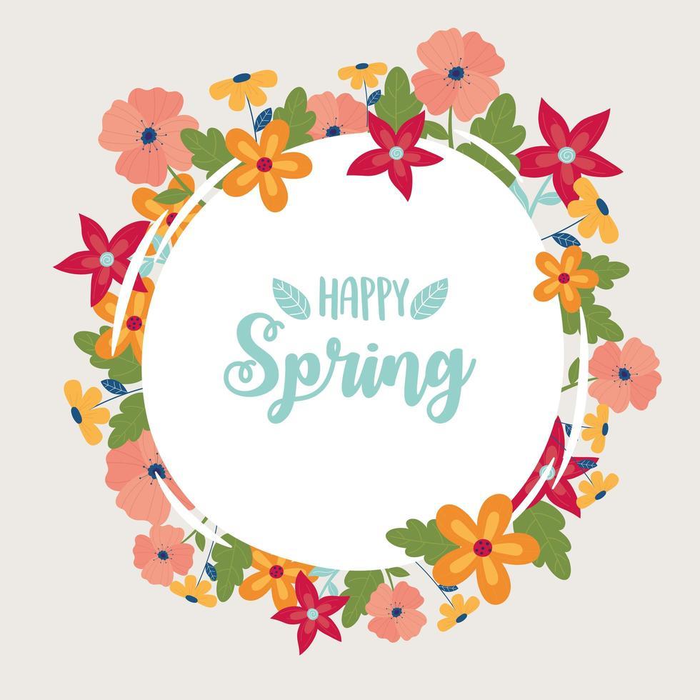 Happy Spring Celebration Label vektor