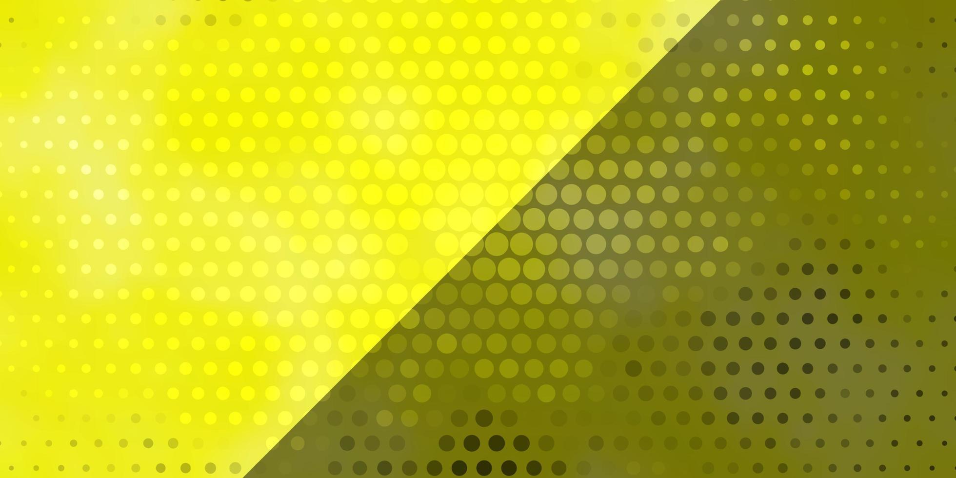 gelbes Muster mit Kreisen. vektor
