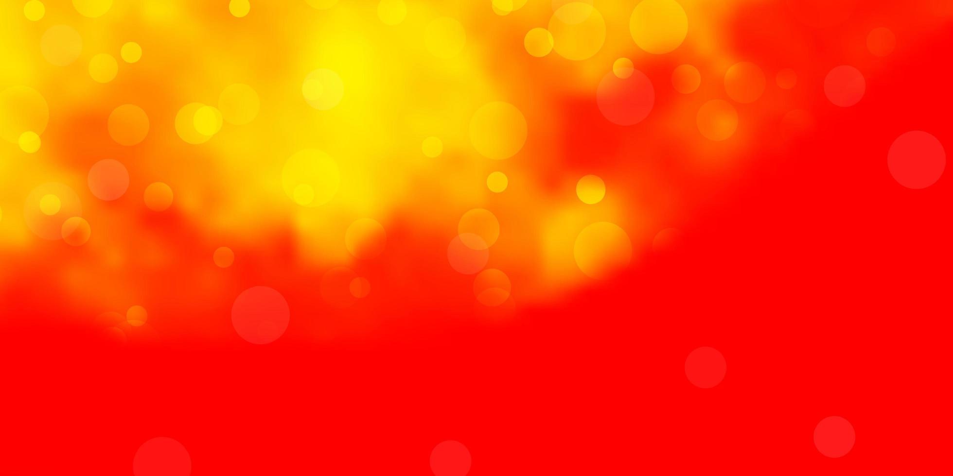 roter und gelber Hintergrund mit Punkten. vektor