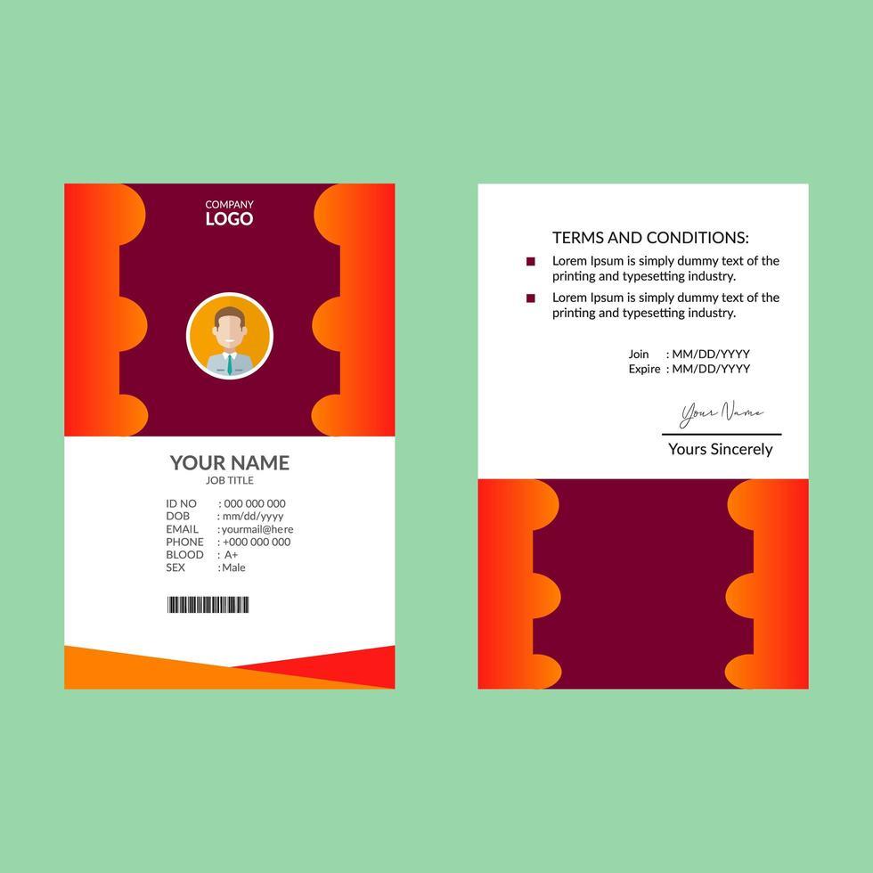 ID-Karte Design-Vorlage vektor