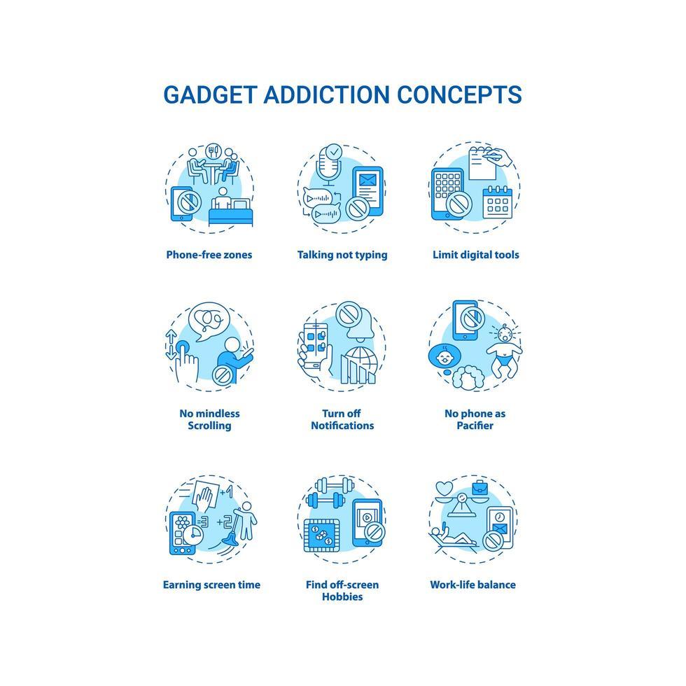 Gadget-Zusatzkonzept-Set vektor