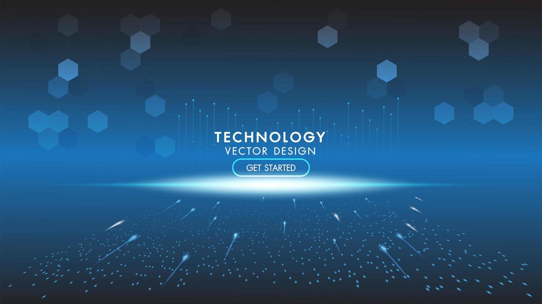 abstrakter technologischer Hintergrund, Hi-Tech-Kommunikation vektor
