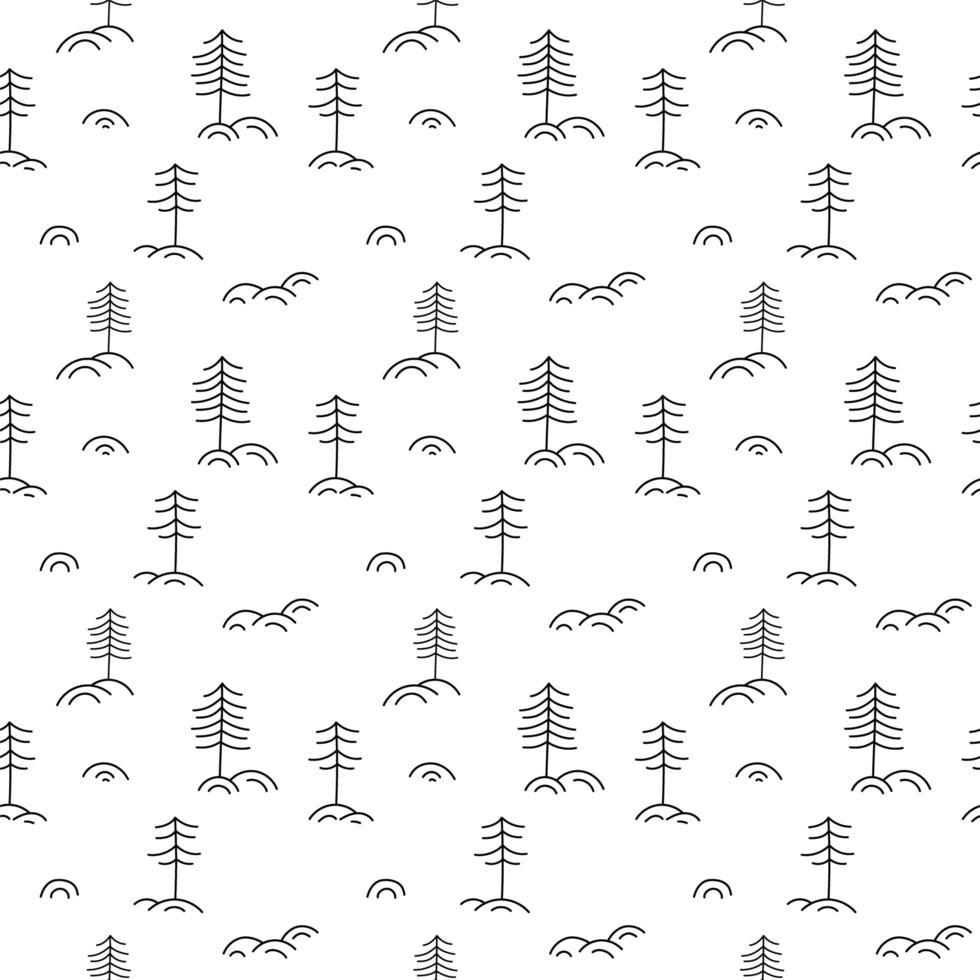 Weihnachten minimalistisches Monoline skandinavisches nahtloses Muster vektor