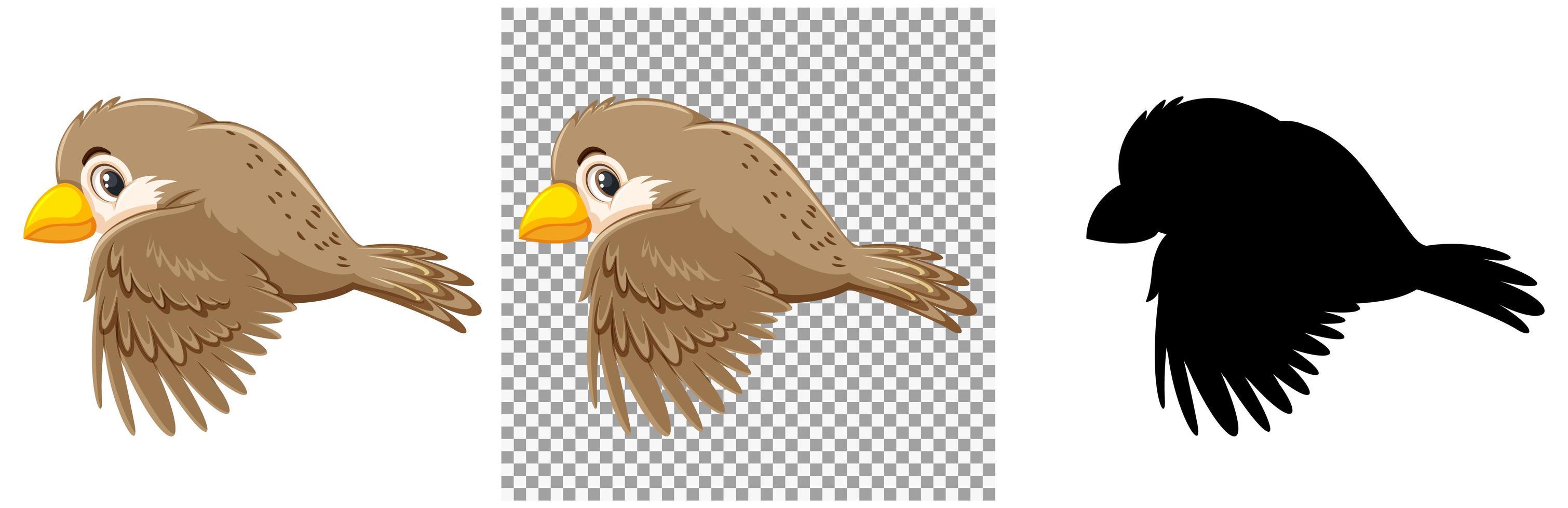 sparv fågel seriefigur vektor