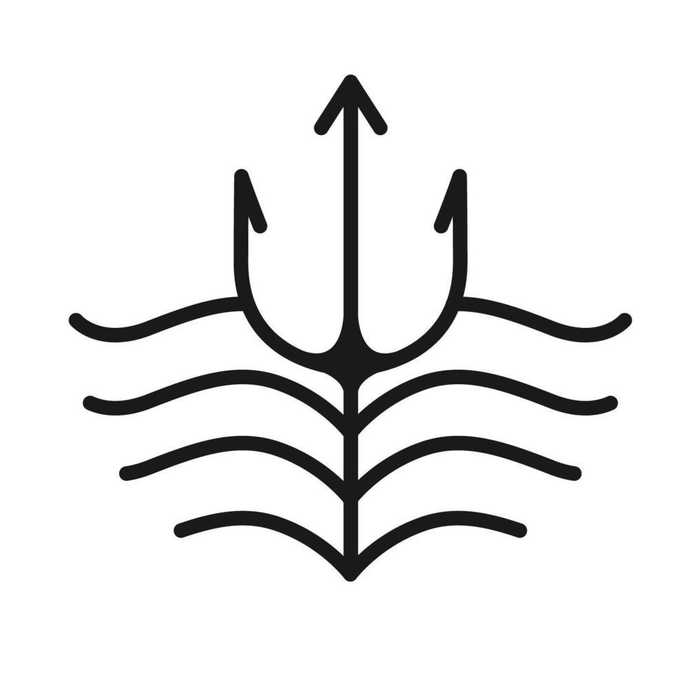 Zeuswelle, einfaches Strichgrafikdesign vektor