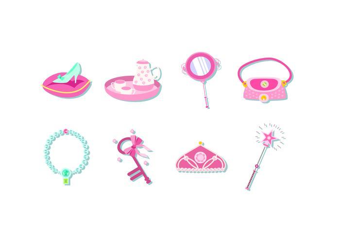 Pink Princess Element Free Vector