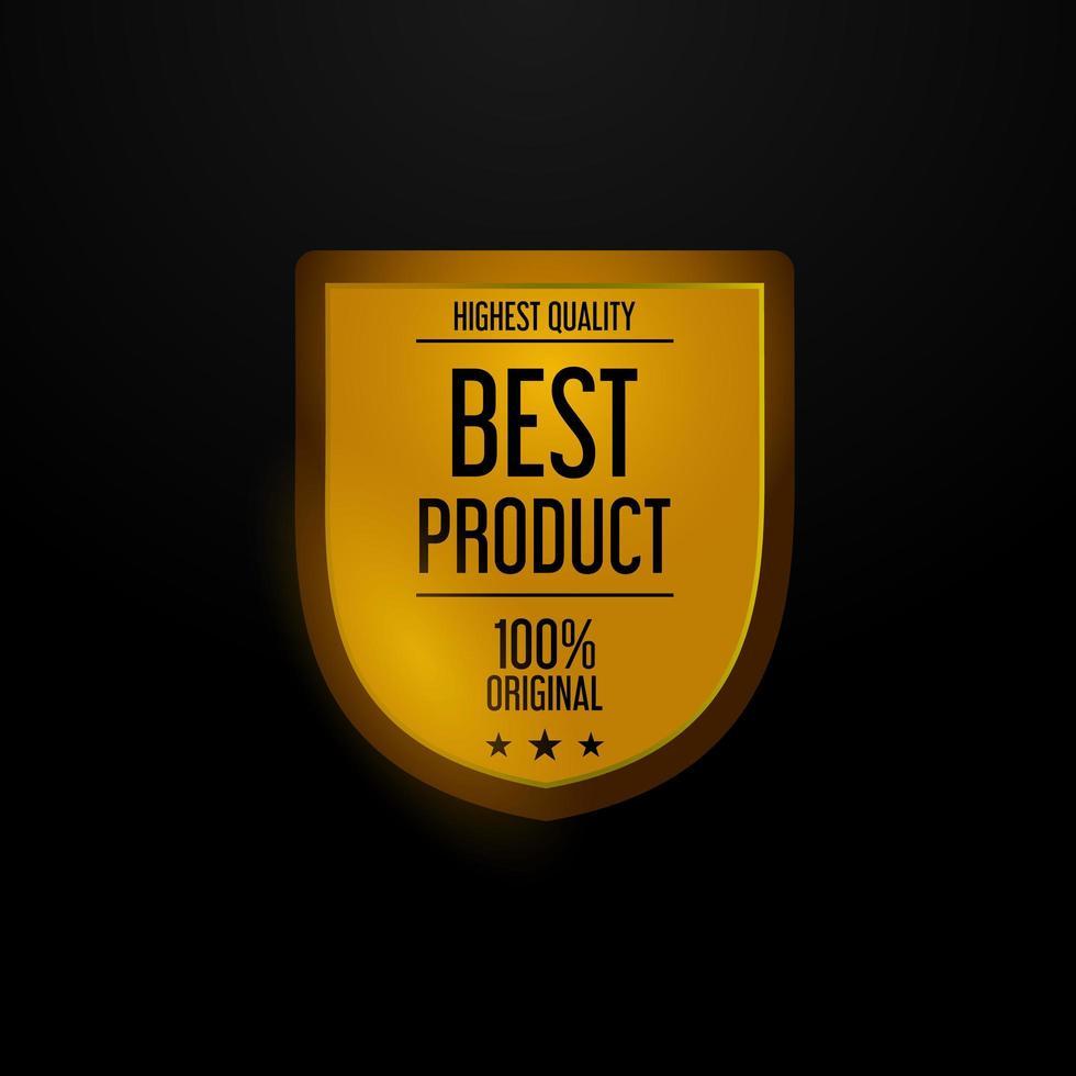 goldenes Schilddesign von höchster Qualität vektor