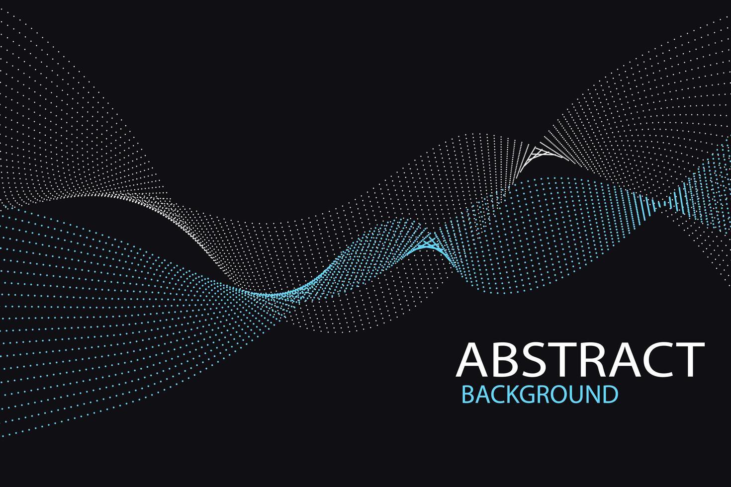 abstrakter dunkler Hintergrund mit gewellten gepunkteten Streifen vektor