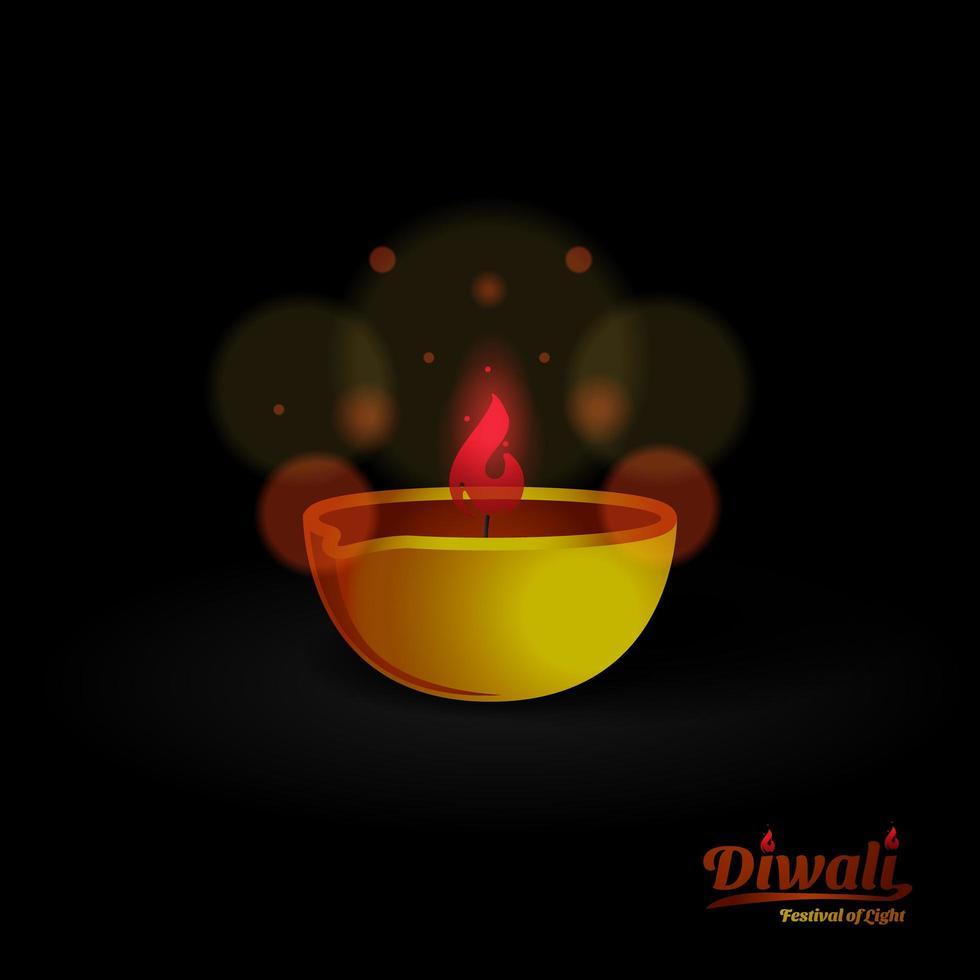 Diwali Lampendesign auf Schwarz vektor