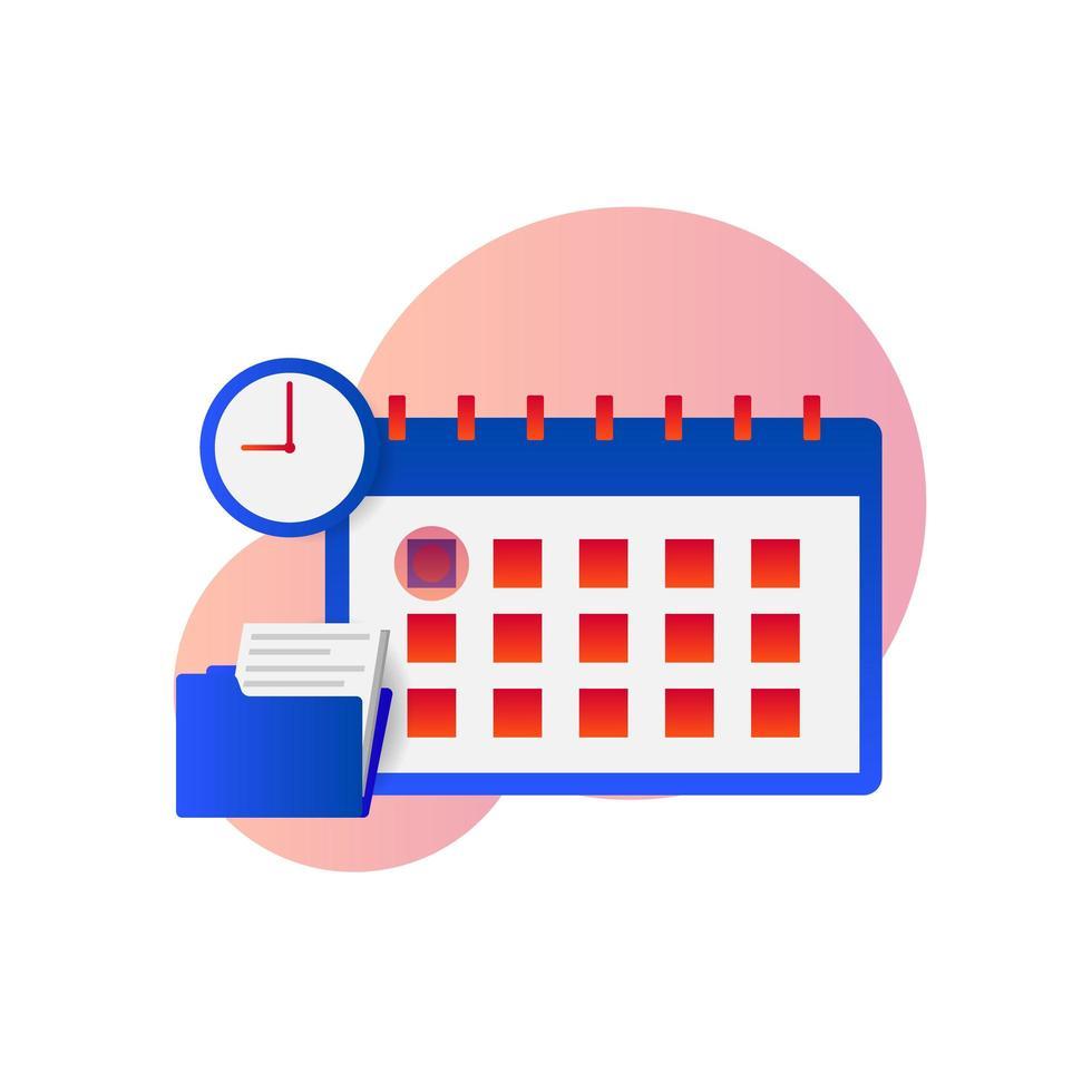 flache Zeitplan Zusammensetzung vektor