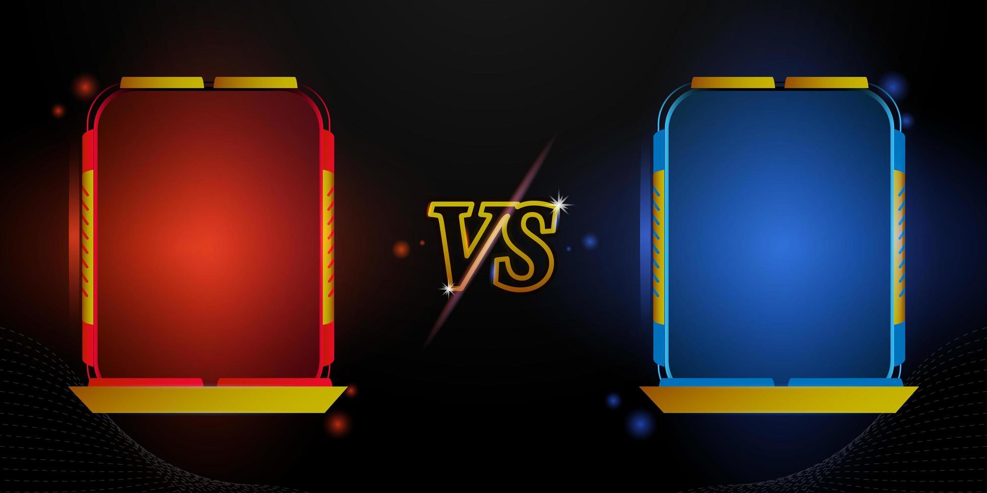 futuristisches versus rotes und blaues Rahmendesign vektor