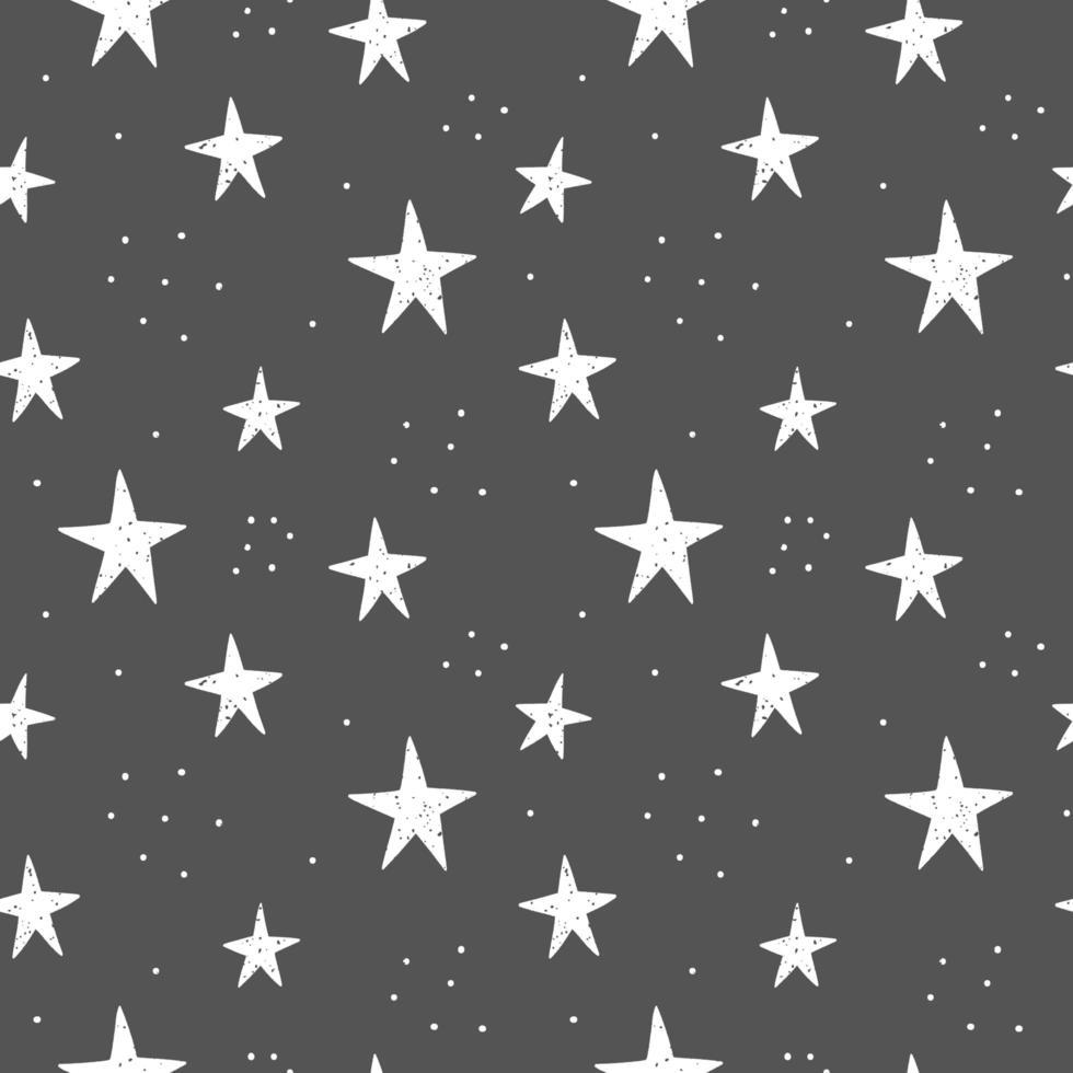 Hand gezeichnete Sterne Muster vektor