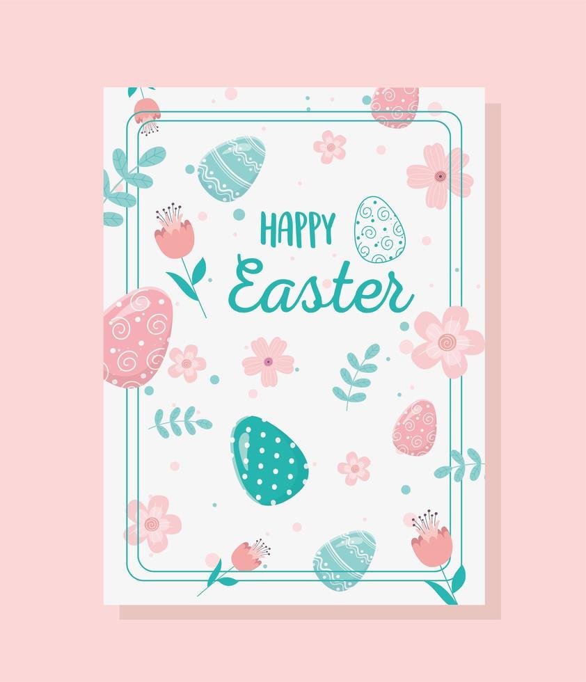 glückliche Ostertagsfeierkarte vektor
